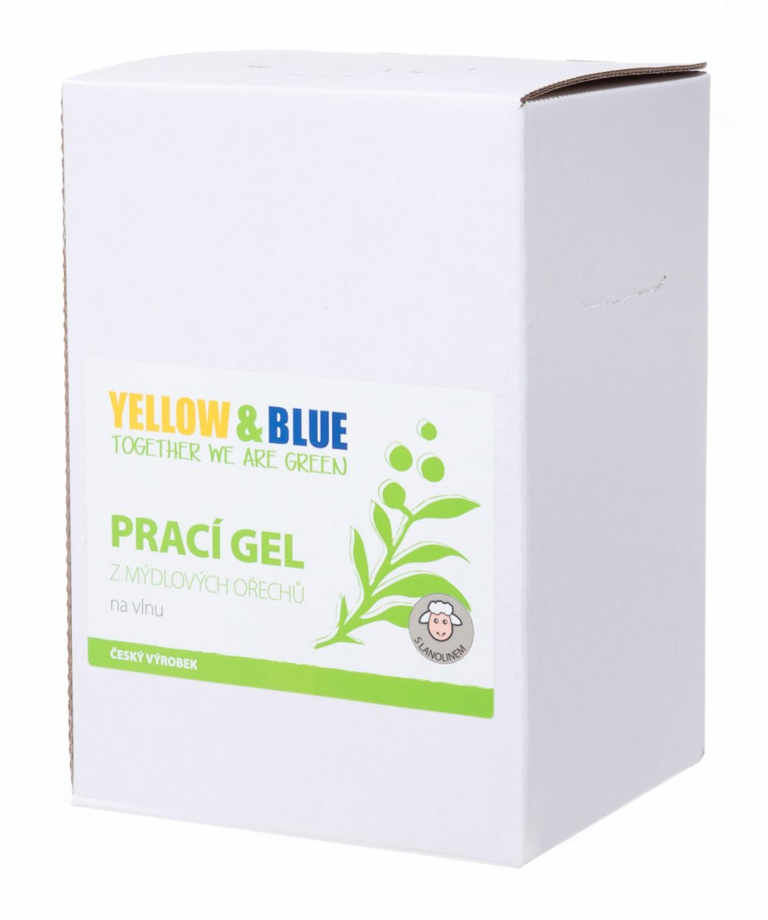 Prací gel z mýdlových ořechů na vlnu (bag-in-box 5l)