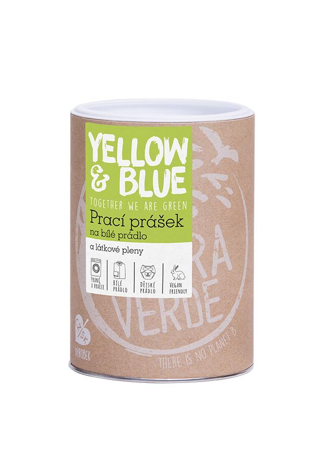 Yellow & Blue prací prášek z mýdlových ořechů na bílé prádlo a pleny 850 g