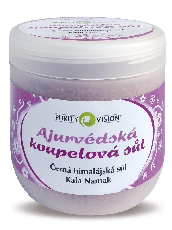 Fotografie PURITY VISION Ajurvédská koupelová sůl, 1kg