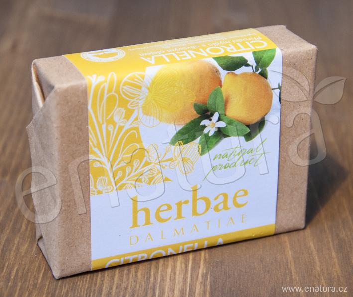 Herbae Dalmatiae: Mýdlo z citronelly (citrónová tráva) 100g