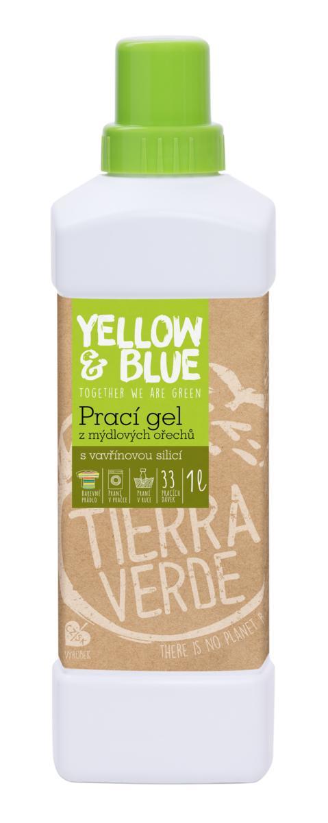 Tierra Verde prací gel z mýdlových ořechů se silicí vavřínu kubébového 1 l