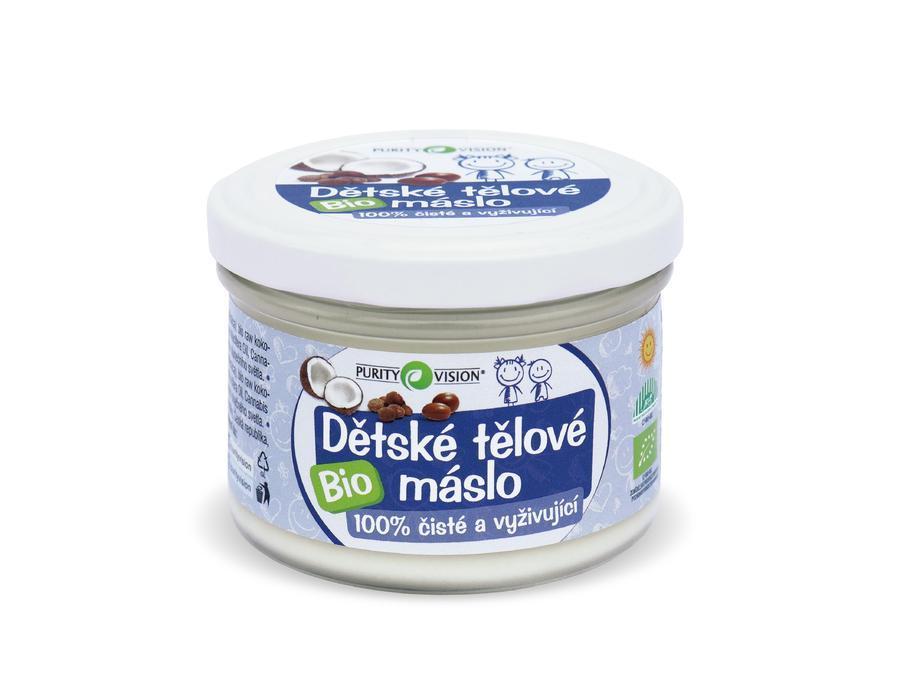 PURITY VISION Dětské tělové máslo BIO, 200 ml