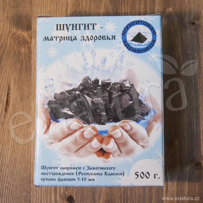 Šungit – jemná drť / 5 - 10 mm na úpravu vody, 500g