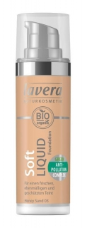 LAVERA Lehký tekutý make-up - 03 medová/ Honey Sand 30 ml