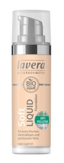 LAVERA Lehký tekutý make-up - 01 porcelánová/ Ivory Light 30 ml